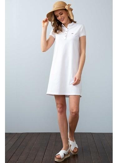 U.S. Polo Assn. Elbise Beyaz